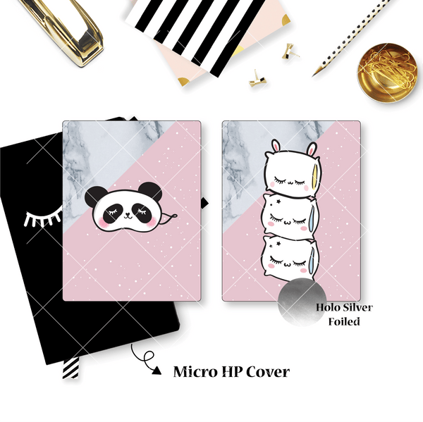 Planner Cover : Stacked Pillows (Holo Silver Foiled)