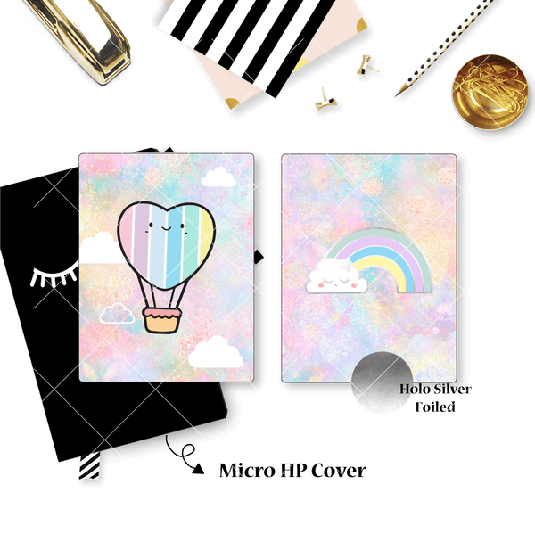 Planner Cover : Rainbow (Holo Silver Foiled)