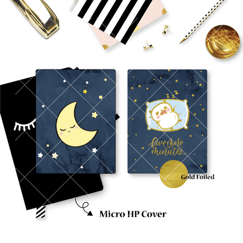 Planner Cover : Sleepy Panda (Gold Foiled) // Happy Daya Collab