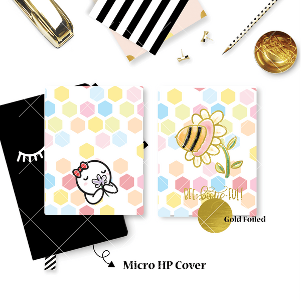 Planner Cover : Bee Booties (Gold Foiled) // Once More With Love Collab