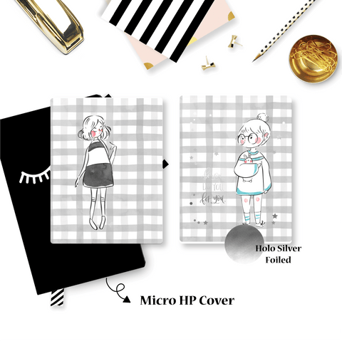 Planner Cover :Sketched Girls (Holo Silver Foiled) // Qiara Teor Collab
