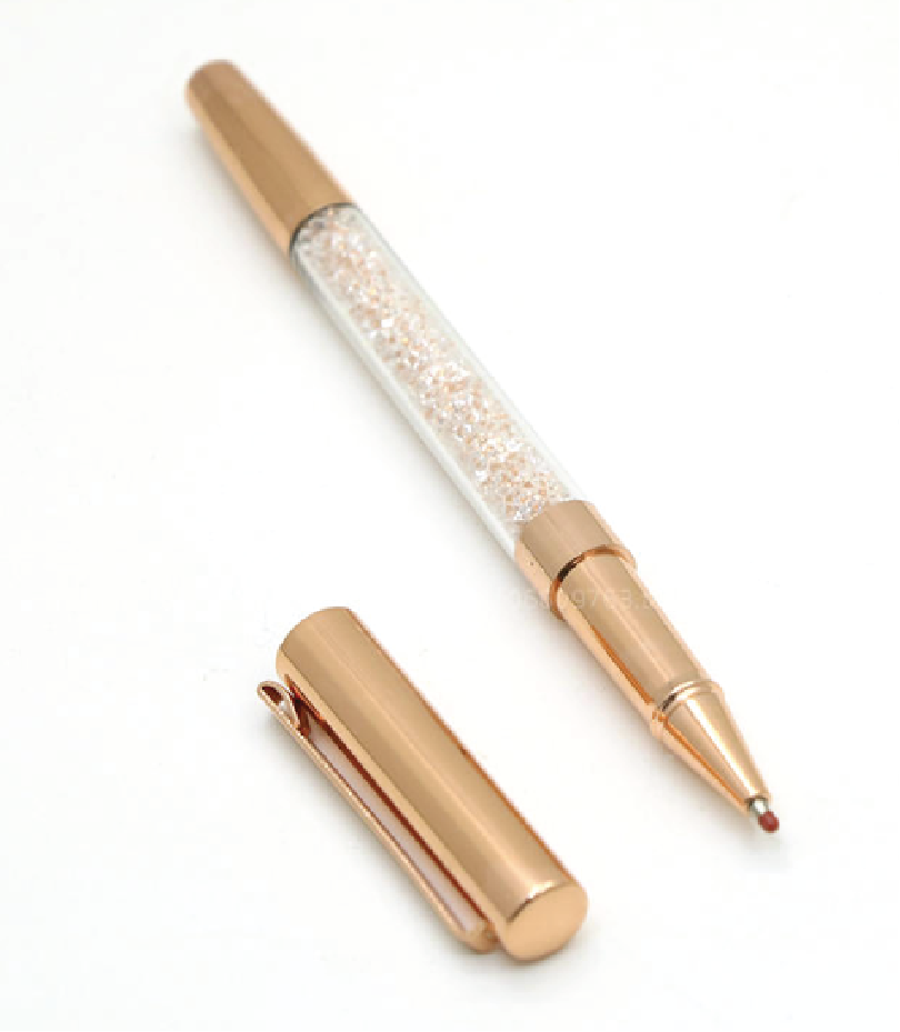 Pens : Glitter Rose Gold Pen