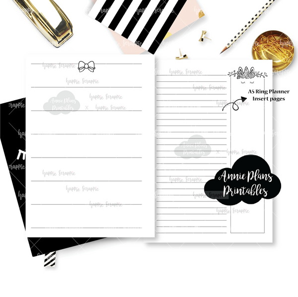 Rings Planner Inserts - Magical Wishes (Unicorn) // Weekly // Collabs with Annie Plans Printables