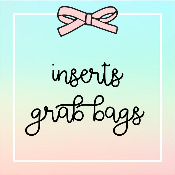 Grab Bags : Inserts (3 INSERTS IN A PACK)