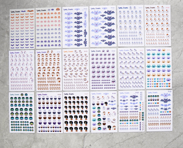 Planner Stickers : Happie Halloween // 18 designs (B412 - B430)