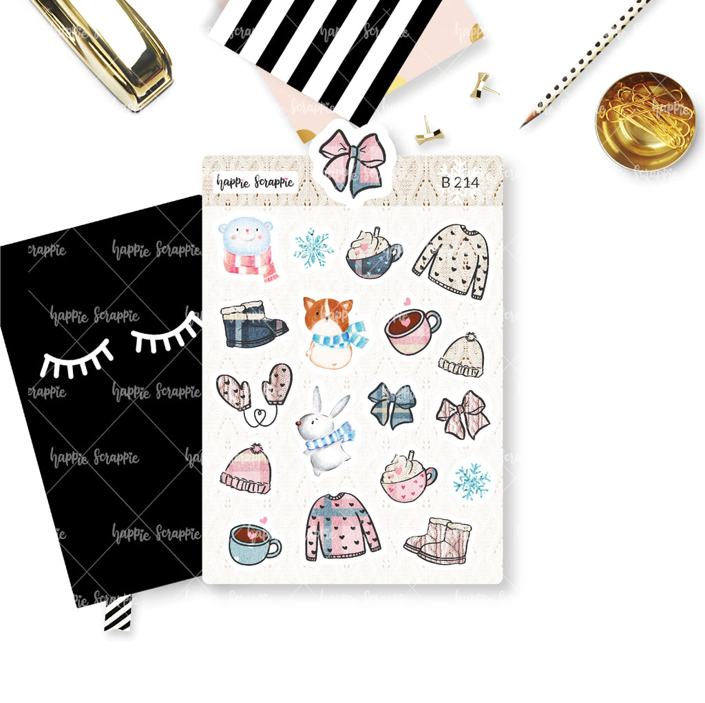 Planner Stickers : Bundle Up - Elements (B214)
