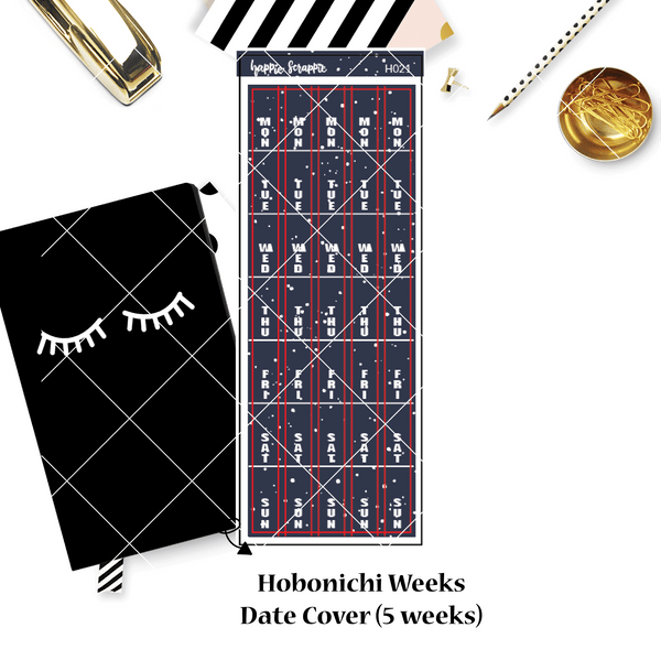 Hobonichi Weeks Sticker - Date Covers // H017 - H022