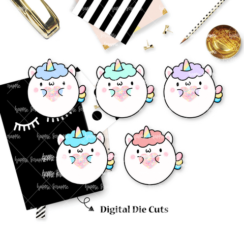 DIGITAL DOWNLOAD! - No Physical Product : Chubby Unicorn
