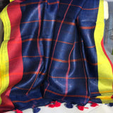 Handloom Linen Sarees Directly from the Weavers