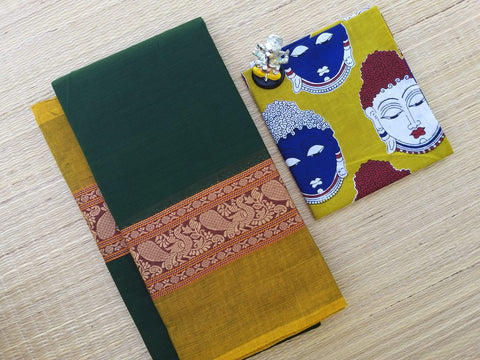 Chettinadu Cotton Saree With Blouse