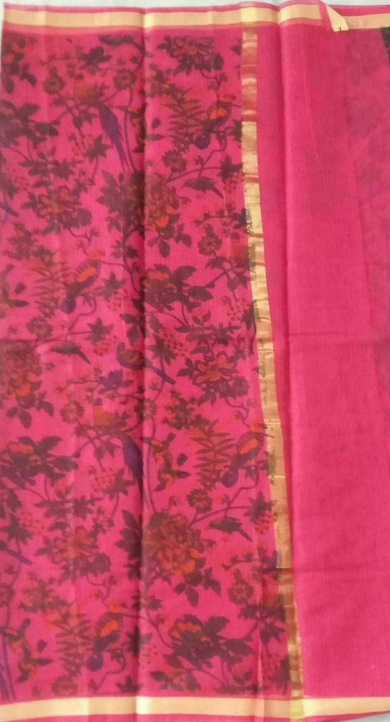Kota Screen Printed Art Silk/Cotton Saree - fKOTA04925