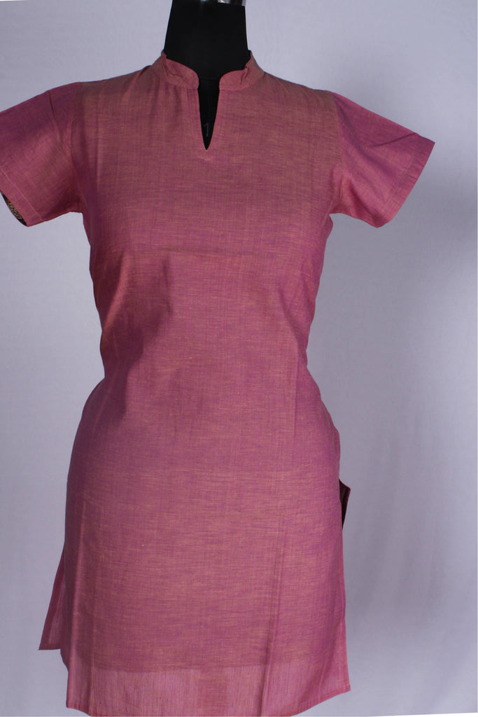 Handloom Mangalagiri  Cotton Stitched Kurti