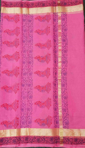 Kota Art Silk / Cotton Saree - KOTA05396