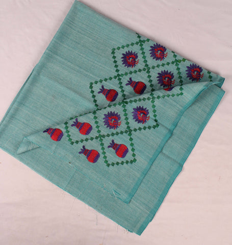 Handloom Embroidery Cotton Blouse Material