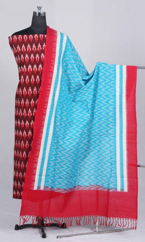 Handloom Handloom Pochampally Ikat Pure Cotton Dress Material (2Pcs)