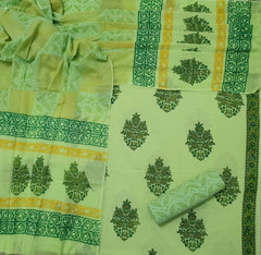 Hand Block Printed Mul Mul Cotton Dress Material