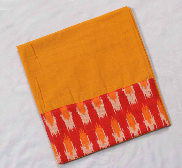 Mangalagiri Ikat Patch Border Blouse Material-Wub0679