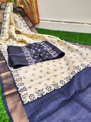 Tussar Silk Dress Material