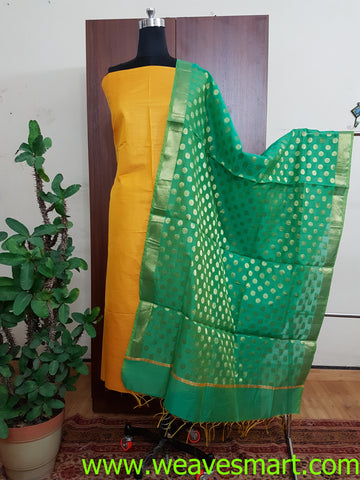 Handloom Silk Dress Material(2Pcs)