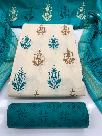 Hand Printed Cotton Dress Material