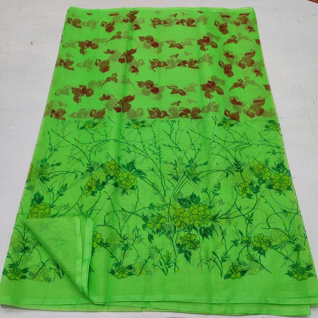 Kota Silk / Cotton Screen Printed Saree