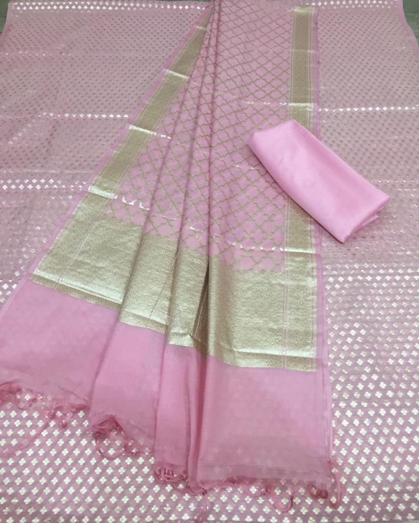 Banaras Silk / Cotton Dress Material