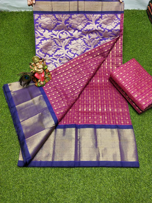 Chanderi Kuppadam Silk / Cotton Saree