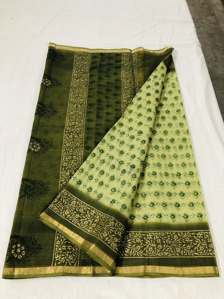 Kota Hand Block Print Silk / Cotton Saree