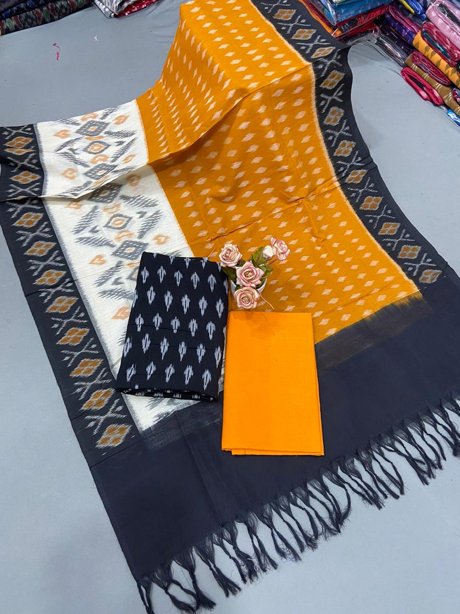 Pochampally Ikat Mercerized Cotton Dress Material