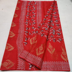 Kota Doria Art Silk / Cotton Hand Block Printed Saree