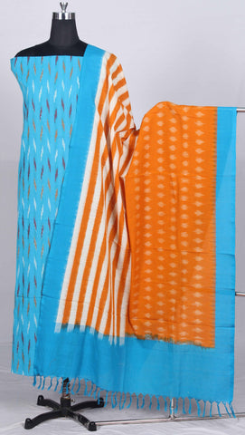 Handloom Pochampally Ikat Pure Cotton Dress Material (2Pcs)-WUK02877