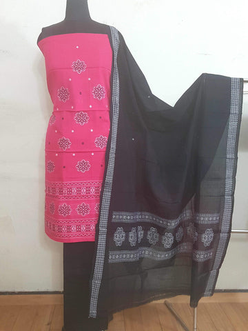 Sambalpur  Cotton Dress Material (3Pcs)- WUK01584
