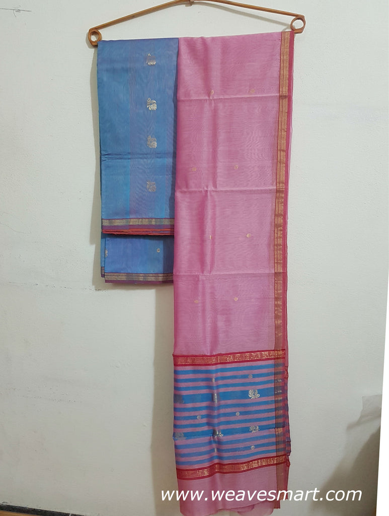 CHANDERI SILK COTTON  DRESS MATERIAL WITH DUPATTA (Kurti)- WUK0273