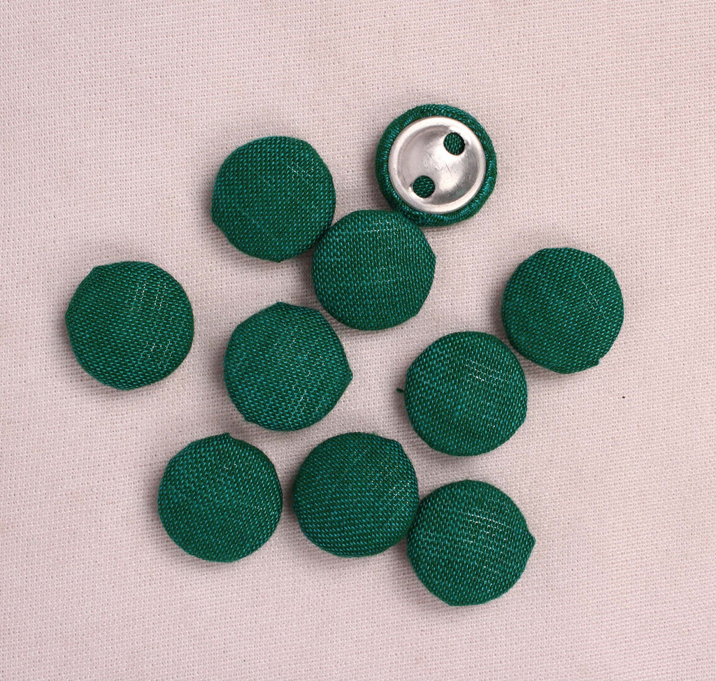 Handmade Small Fabric Buttons (Set Of 10)- WUK02100