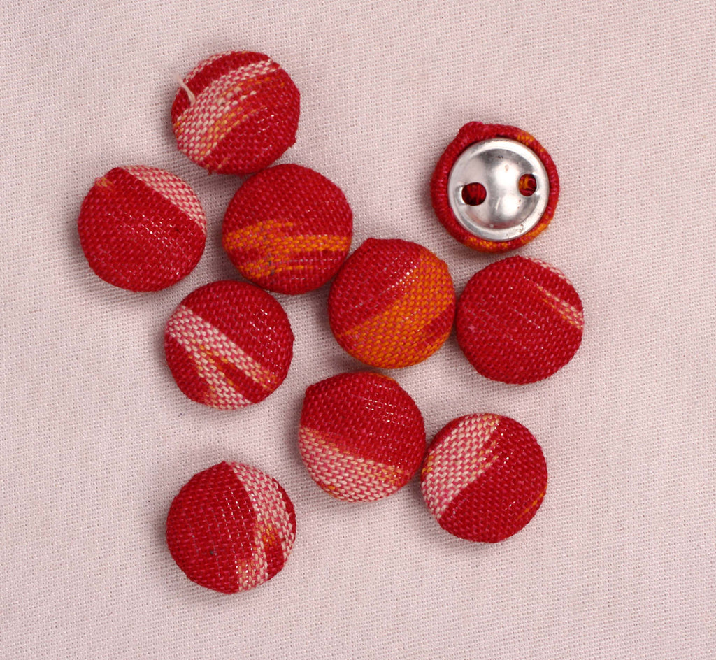 Handmade Small Fabric Buttons (Set Of 10)- WUK02101