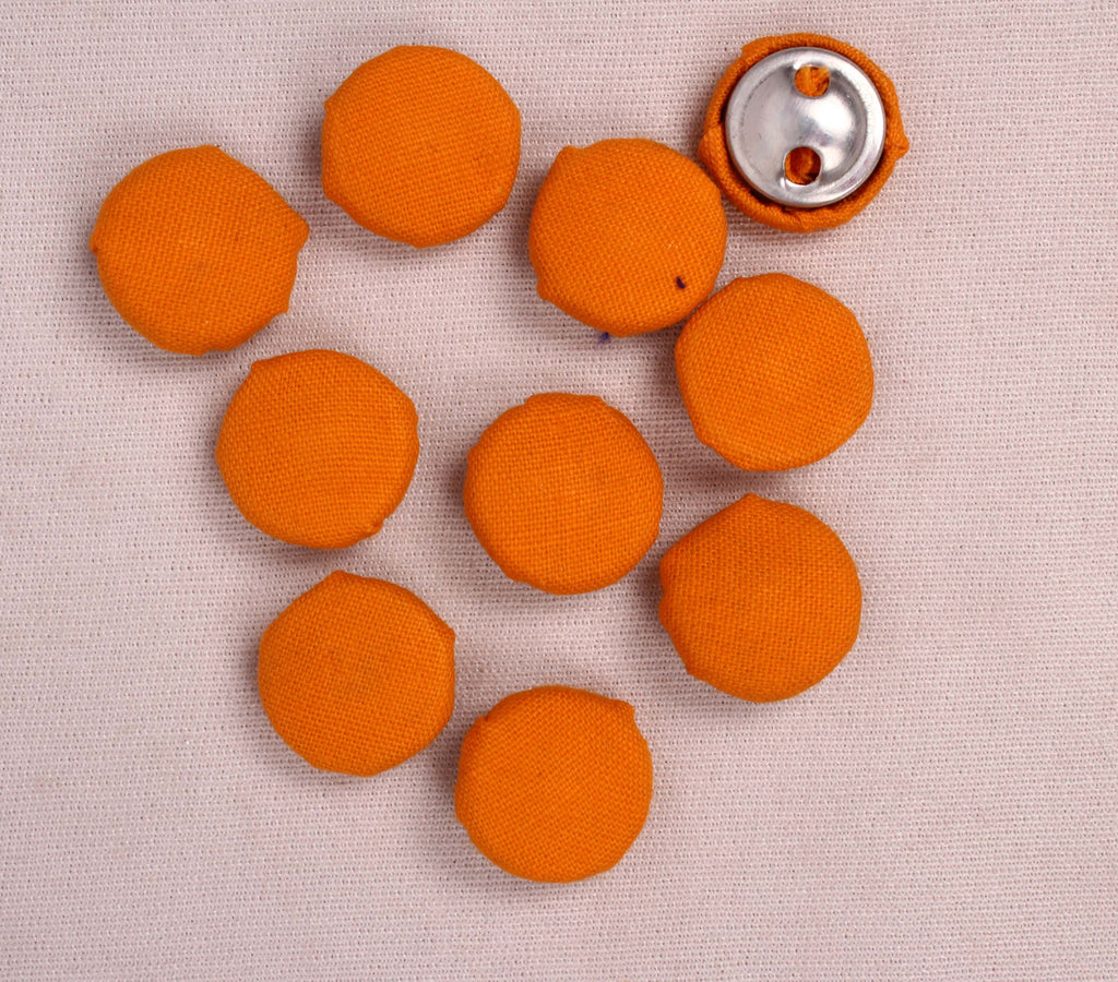 Handmade Small Fabric Buttons (Set Of 10)- WUK02105