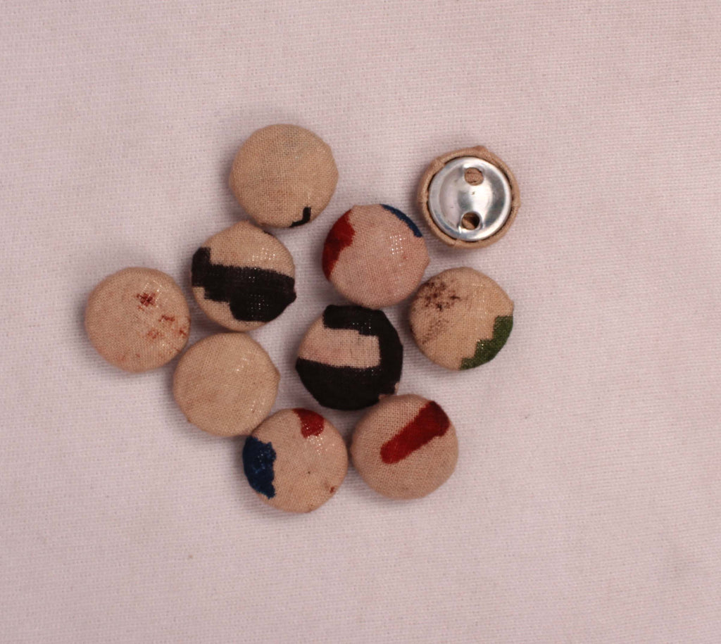 Handmade Small Fabric Buttons (Set Of 10)- WUK02107