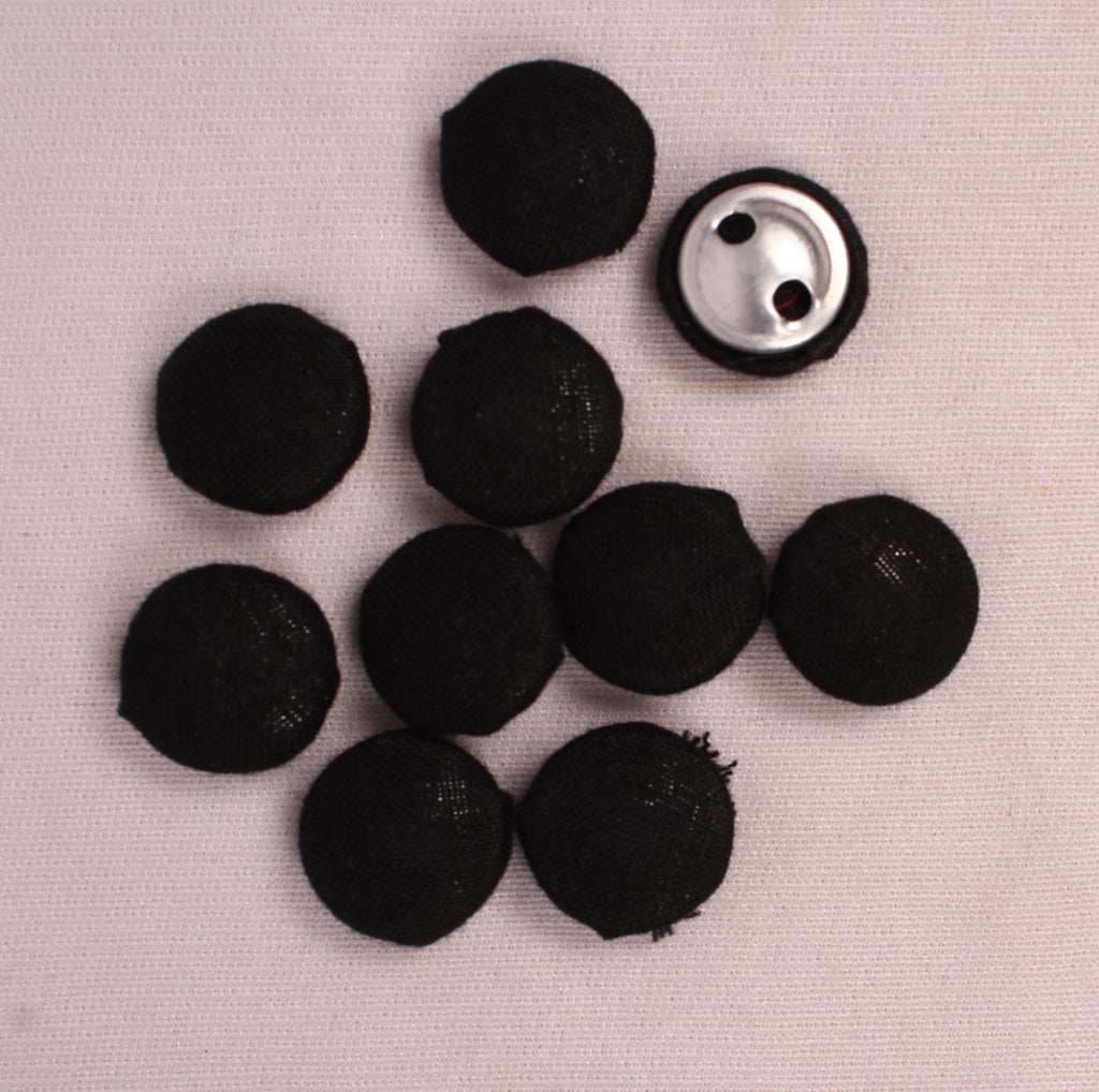 Handmade Small Fabric Buttons (Set Of 10)- WUK02111