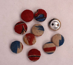 Handmade Small Fabric Buttons (Set Of 10)- WUK02114