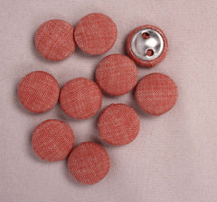 Handmade Small Fabric Buttons (Set Of 10)- WUK02115