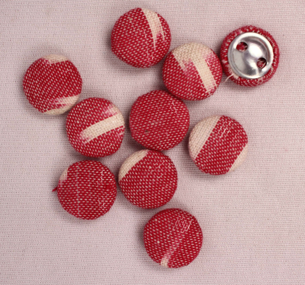Handmade Small Fabric Buttons (Set Of 10)- WUK02116