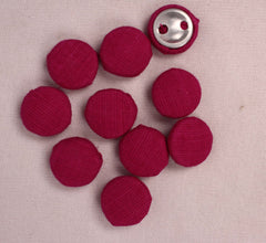 Handmade Small Fabric Buttons (Set Of 10)- WUK02117