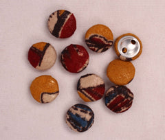 Handmade Small Fabric Buttons (Set Of 10)- WUK02118
