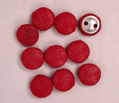 Handmade Small Fabric Buttons (Set Of 10)- WUK02119