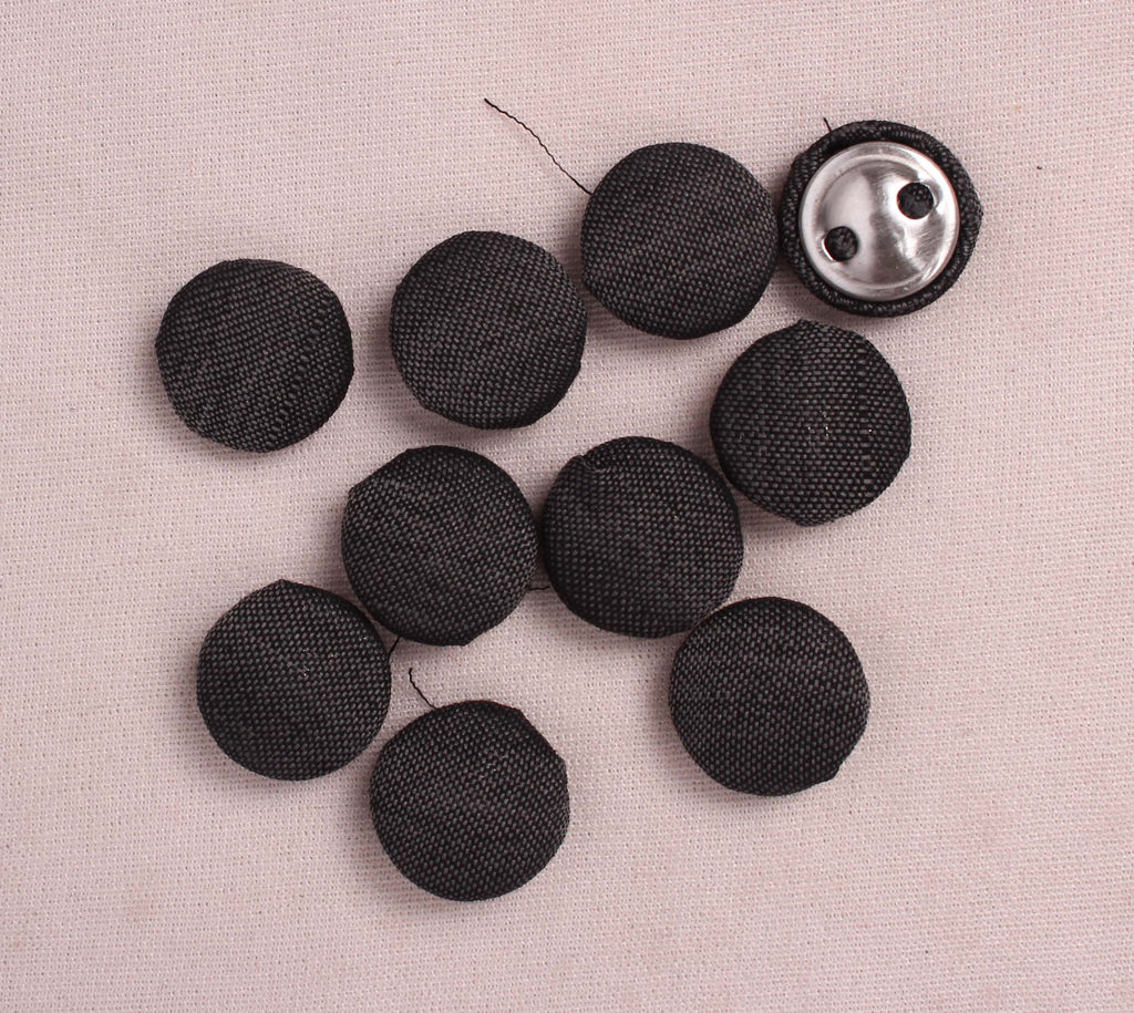 Handmade Small Fabric Buttons (Set Of 10)- WUK02121