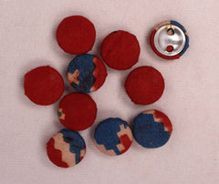 Handmade Small Fabric Buttons (Set Of 10)- WUK02124