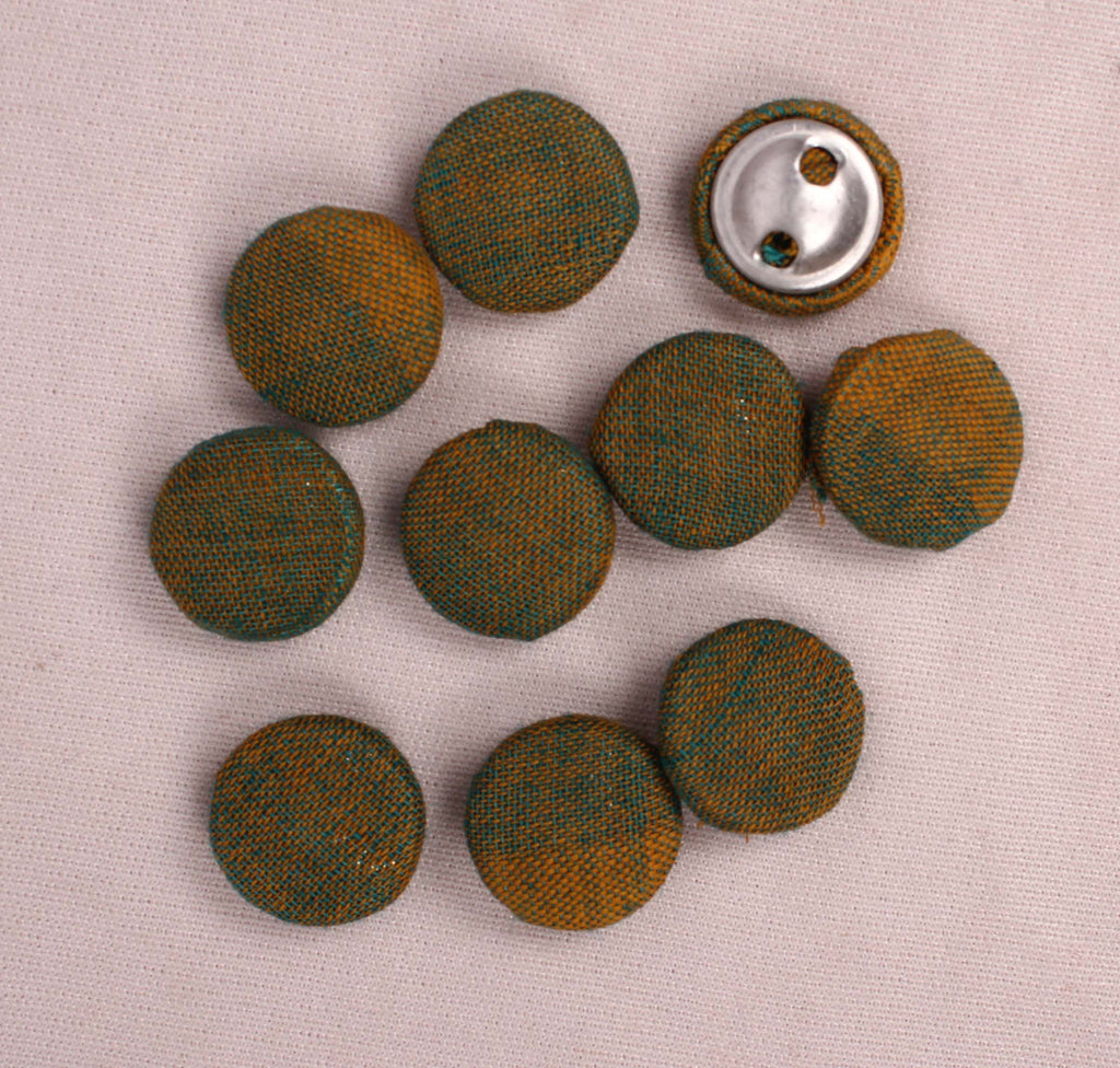 Handmade Small Fabric Buttons (Set Of 10)- WUK02129