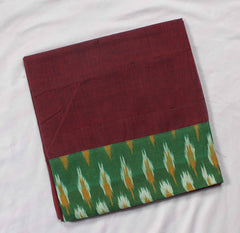 Mangalagiri ikat Patch Border Blouse Material-WUB0673