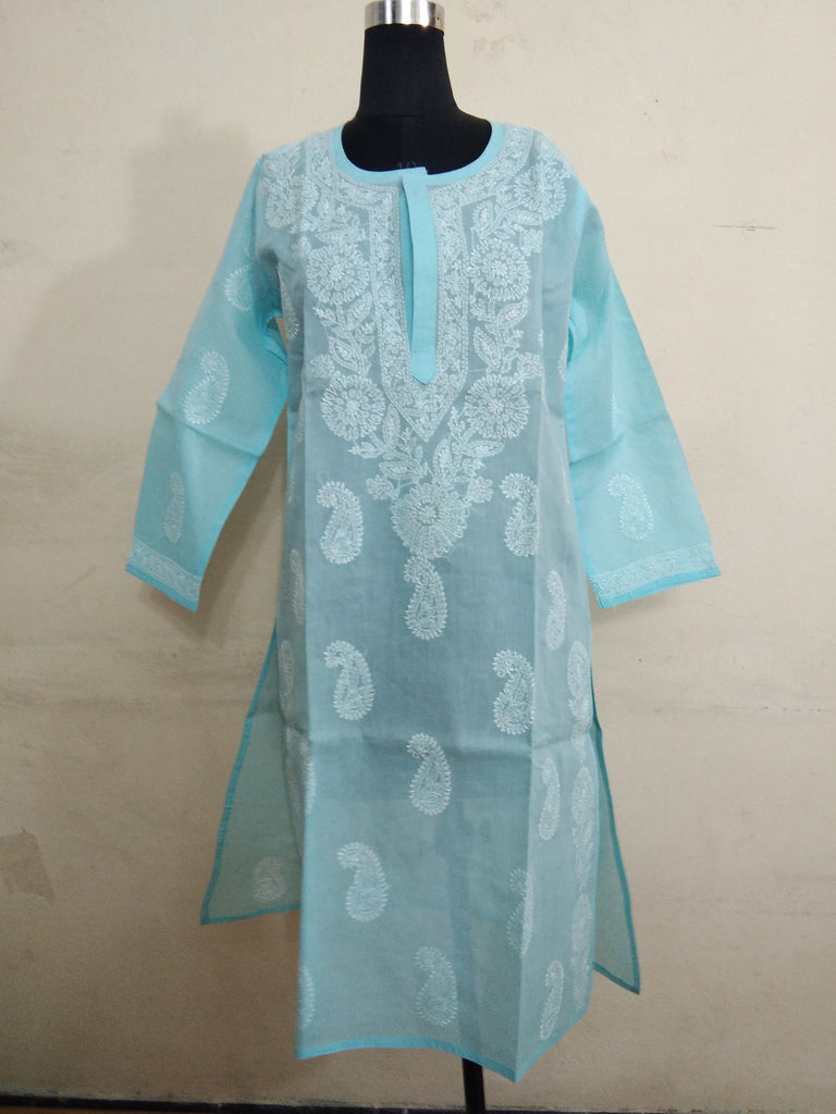 Lucknow Chikan Stitched Cotton Kurti - WUK01687