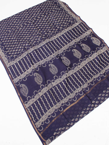 Chanderi Art Silk Saree With Blouse-FDSSOBNSA9291
